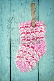 pink baby sock